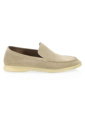 Seaside Walk Suede Espadrilles - GrayLoro Piana