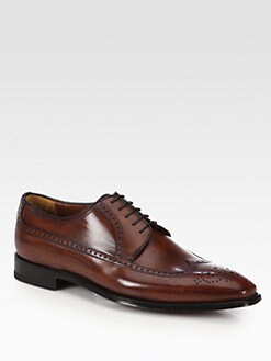A. Testoni - Lace-Up Leather Oxfords