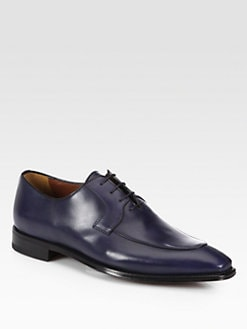 A. Testoni - Lace-Up Leather Loafers