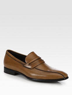 A. Testoni - Leather Penny Loafers