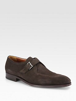 A. Testoni - Suede Monk Strap Slip-On