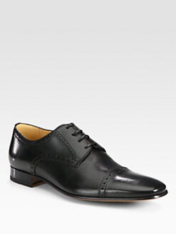 Bally - Leather Captoe Lace-Up