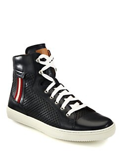 Bally - Olir Perforated Hi-Top Sneakers