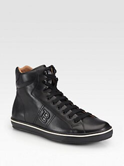 Bally - Oxen Leather High-Top Sneakers