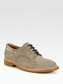 Brunello Cucinelli - Suede Wingtip Brogue