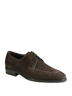 A. Testoni - Suede Derby Lace-Ups