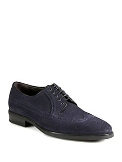 A. Testoni - English Suede Lace-Ups