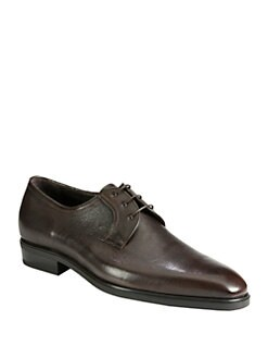 A. Testoni - Leather Derby Lace-Ups
