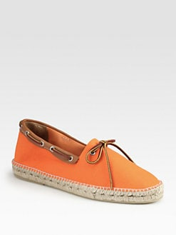 Ralph Lauren - Canvas/Leather Belvi Espadrilles