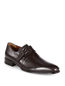 A. Testoni - Buckle Leather Slip-Ons
