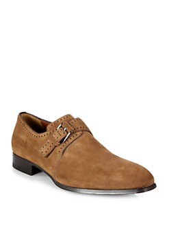 A. Testoni - Buckle Suede Slip-Ons