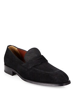A. Testoni - Grain English Suede Loafers