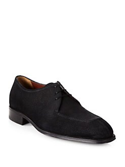 A. Testoni - Grain English Suede Lace-Ups