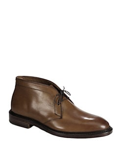 Ralph Lauren - Saunders Burnished Leather Lace-Ups