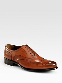 A. Testoni - Washed Leather Lace-Up