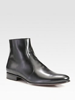 A. Testoni - Leather Ankle Boot