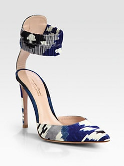 Altuzarra - Ikat-Print Ankle Strap Pumps