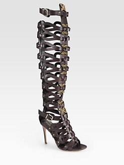 Altuzarra - Leather Gladiator Over-The-Knee Boots