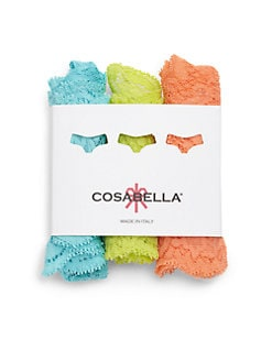 Cosabella - Low-Rise Lace Thong/Pack of 3