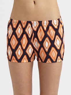 Cosabella - Marcy Geometric-Print Shorts