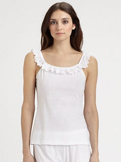 Cosabella - Eyelet-Trimmed Knit Camisole