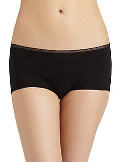 Cosabella - Lace-Trimmed Low-Rise Hot Pants