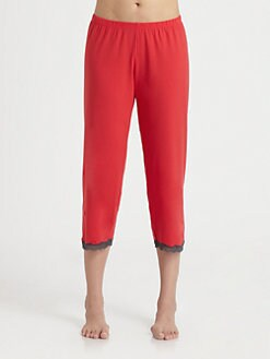 Cosabella - Cropped Lace-Trimmed Pants