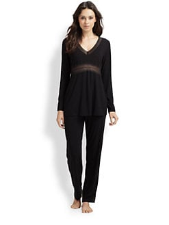 Cosabella - Lace-Trimmed Jersey Top