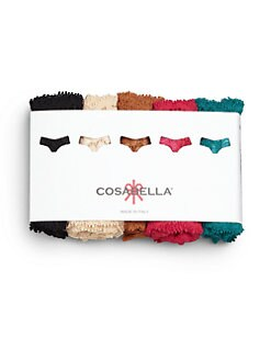 Cosabella - Never Say Never Low-Rise Lace Thong/Pack of 5