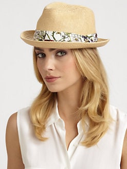 Gucci - Straw Flora Fedora