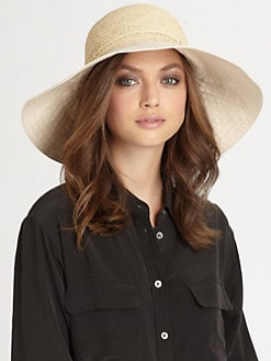 Helen Kaminski - Kuya Raffia & Canvas Hat