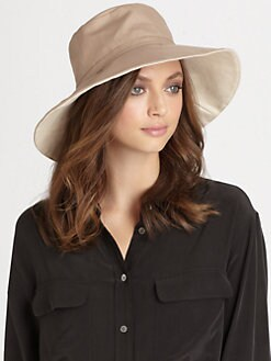 Helen Kaminski - Bolata Two-Tone Cotton Canvas Hat
