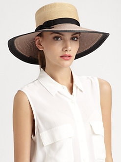 Kate Spade New York - All Wrapped Up Straw Colorblock Sun Hat