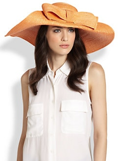 Helene Berman - Floppy Bow Straw Hat