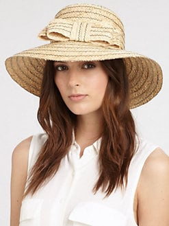 Helene Berman - Bow Straw Hat