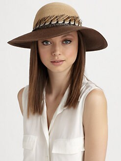 Eugenia Kim - Carly Hemp Feather Accented Sunhat
