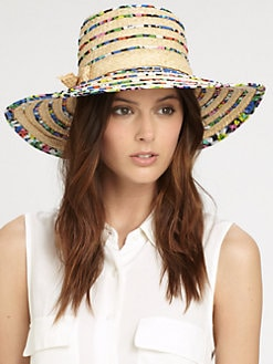 Kate Spade New York - Print Piping Sun Hat