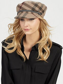Burberry - Edith Smoked Check Cap