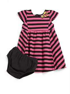 DKNY - Infant's Two-Piece Striped Dress & Bloomers Set