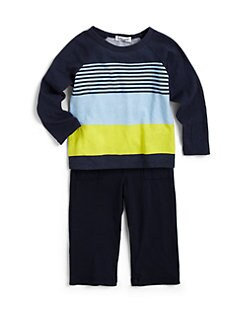 Splendid - Infant's Two-Piece Bayside Striped Baseball Tee & Pants Set