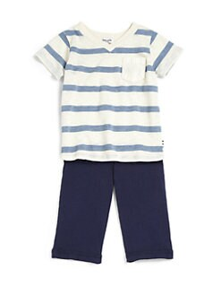 Splendid - Infant's Two-Piece Striped Tee & Pants Set