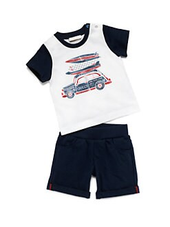 Gucci - Infant's Two-Piece Surf Tee & Shorts Set