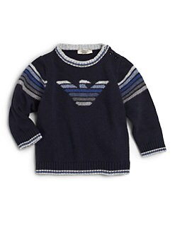 Armani Junior - Infant Boy's Ombre Logo Sweater