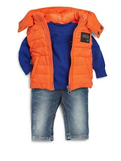 Diesel - Infant's Hooded Puffer Vest