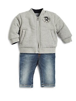 Diesel - Infant's Reversible Baseball Jacket