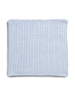 Rachel Riley - Infant's Blue Cable-Knit Cashmere Blanket
