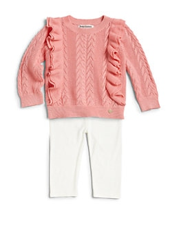 Juicy Couture - Infant's Two-Piece Ruffled Sweater & Leggings Set