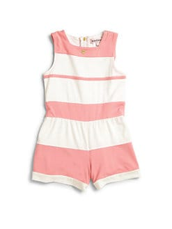 Juicy Couture - Infant's Striped French Terry Romper