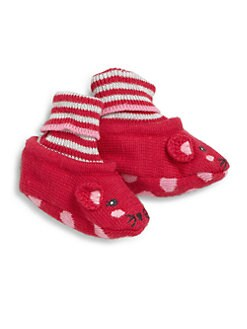 Catimini - Infant's Knit Mouse Booties