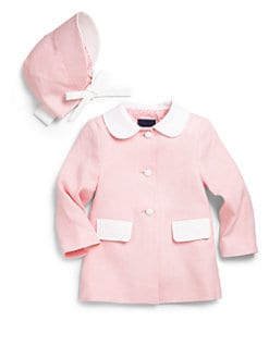Oscar de la Renta - Infant's Two-Piece Spring Coat & Bonnet Set